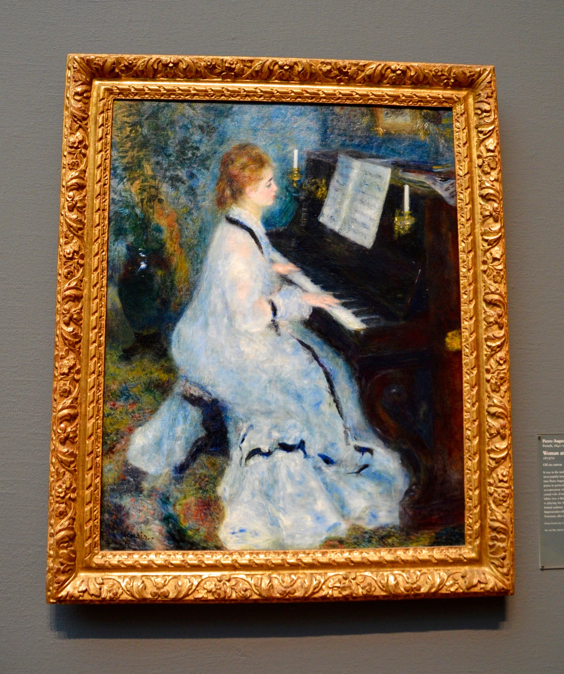 """One of my all time favorite paintings:  Pierre-Auguste Renoir  """"Woman at the Piano""""  (1841-1919)"""