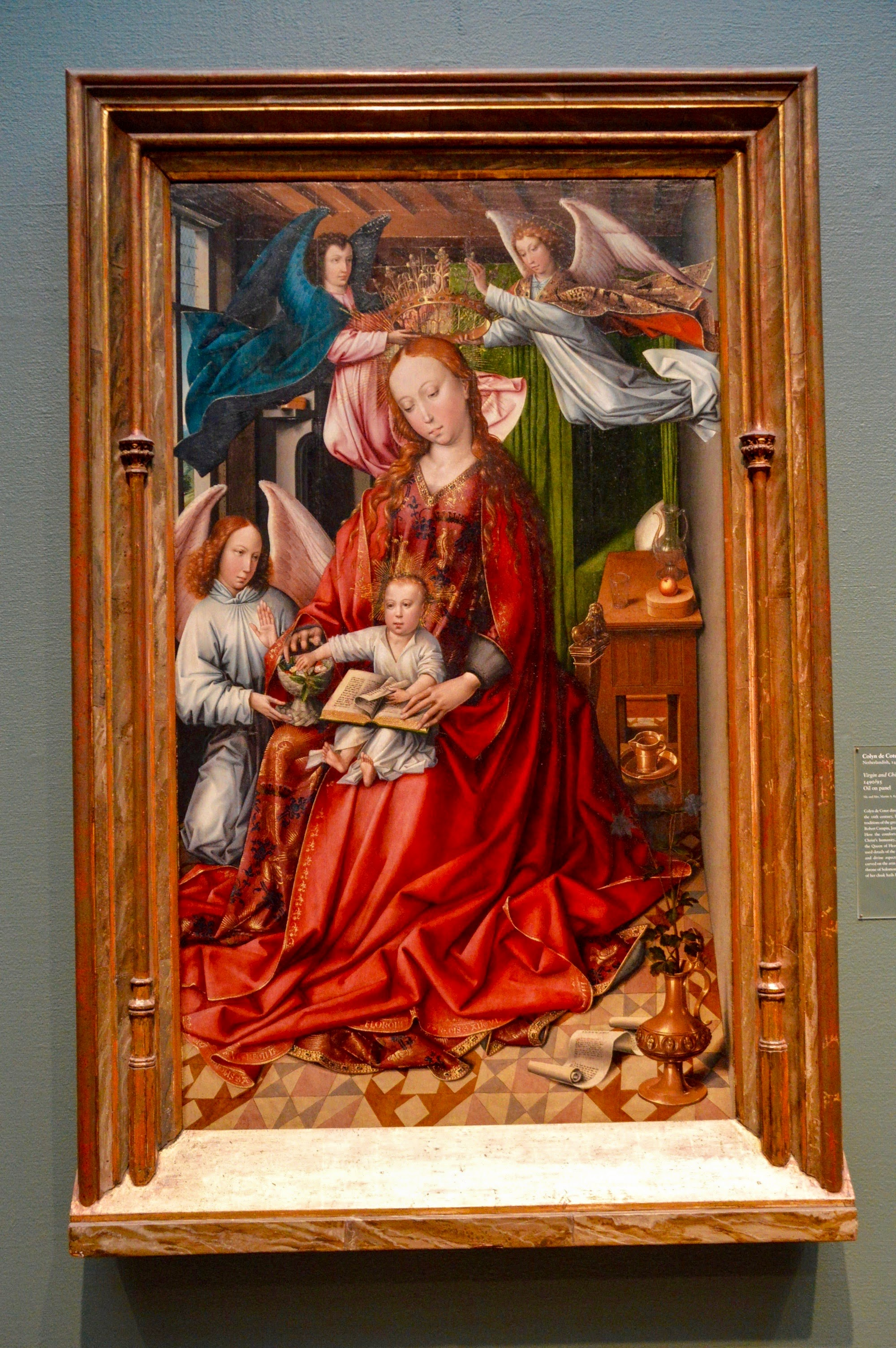 """Colyn de Coter  """"Virgin and Child Crowned by Angels""""  (1450-1540)"""