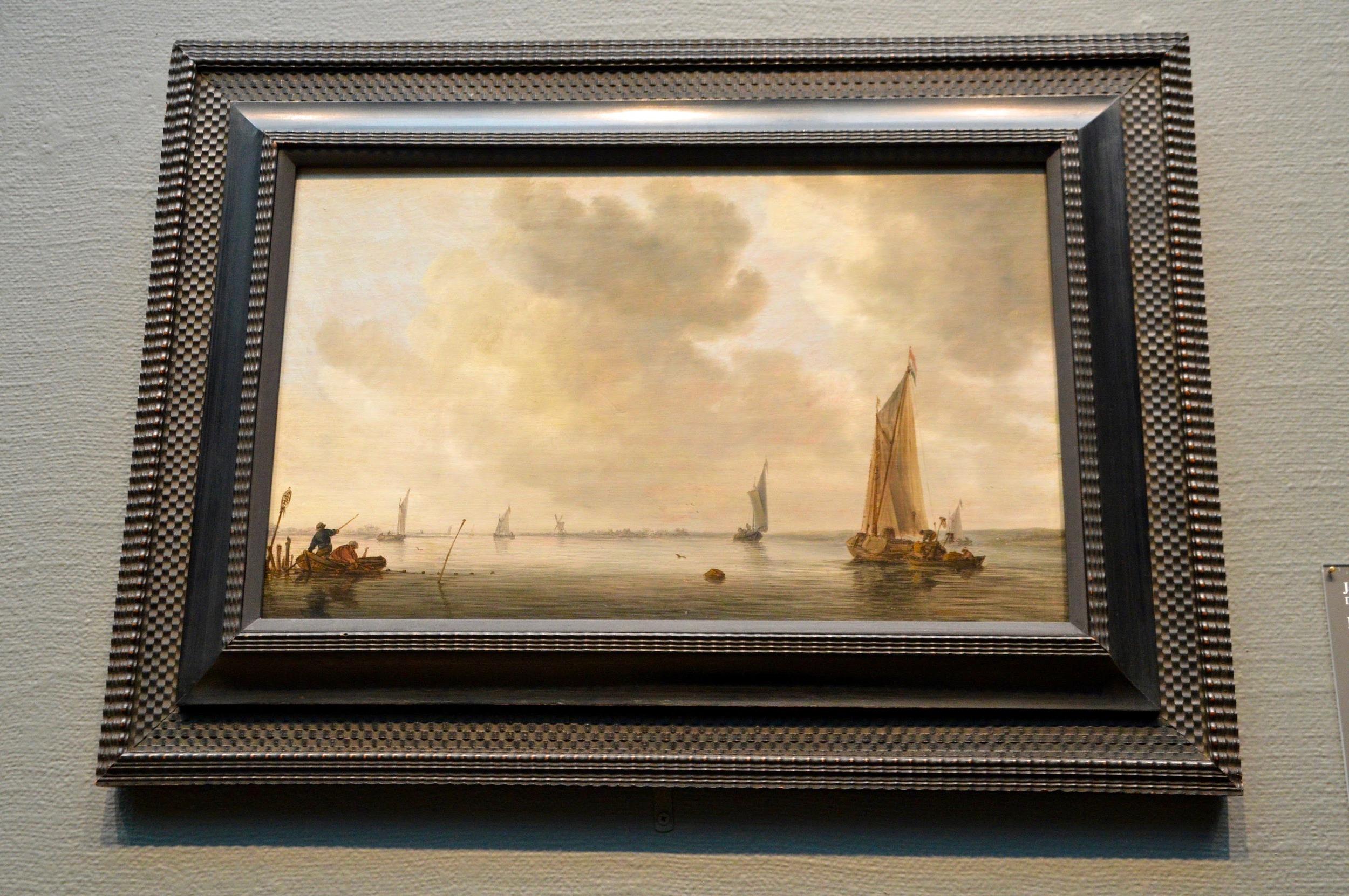 "Jan van de Cappelle  ""Fishing Boats in a Calm""  (1626-1679)"