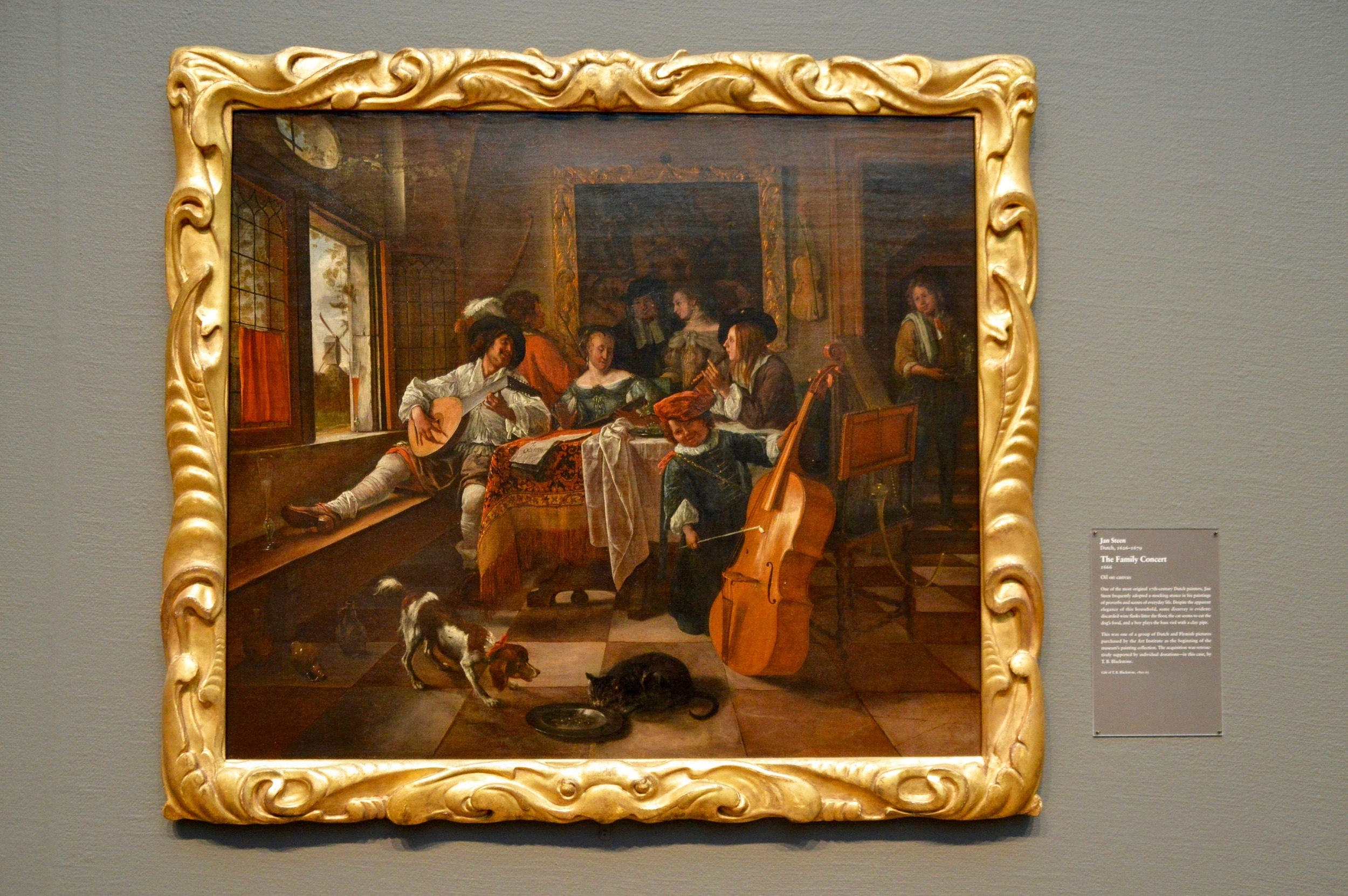 "Jan Steen  ""The Family Concert""  (1626-1679)"