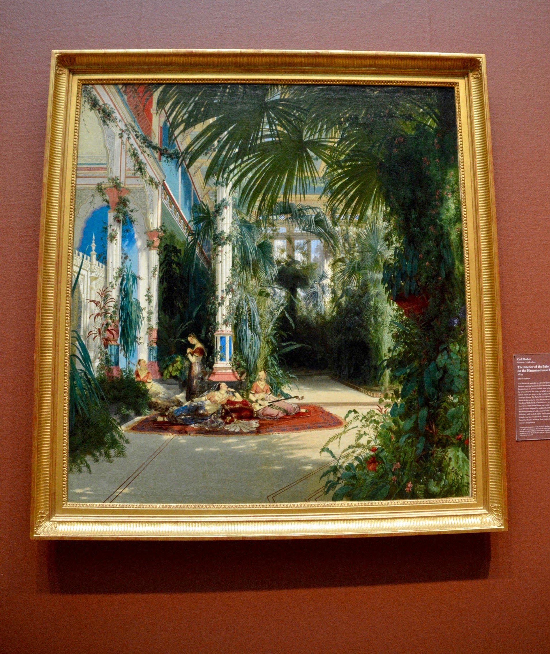 "Carl Blechen  ""The Interior of the Palm House on the Pfaueninsel near Potsdam""  (1798-1840)"