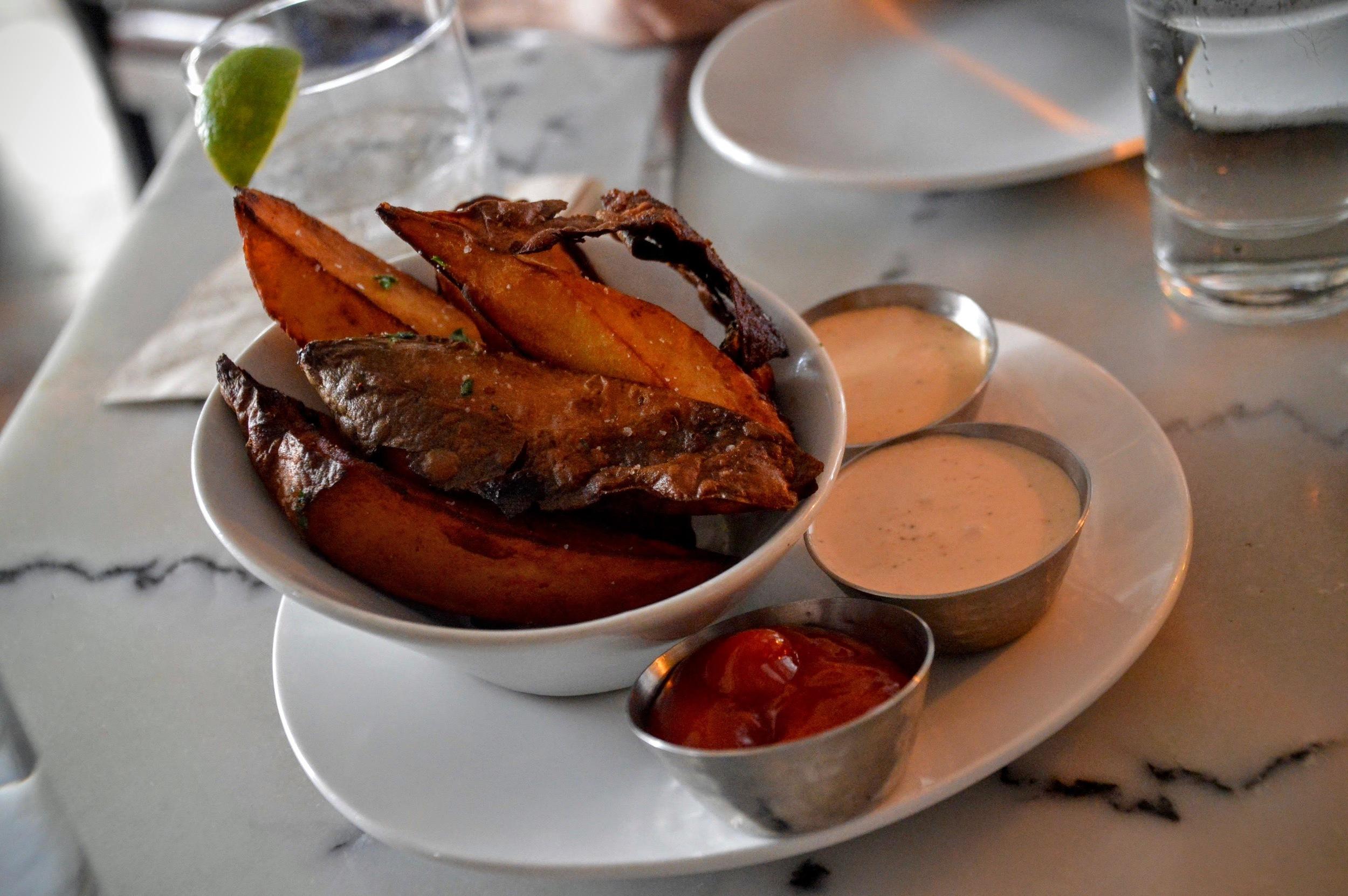 Korean Sweet Potato Steak Frites