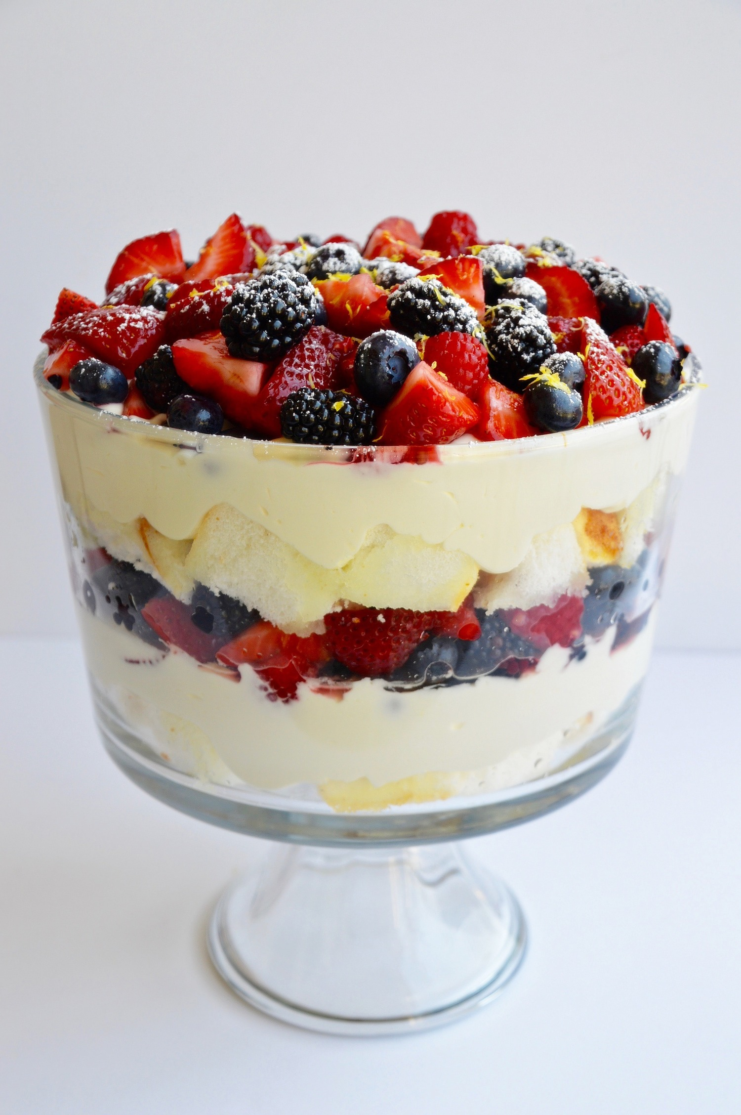 Limoncello Trifle with Fresh Berries - by Kim's Fab Finds