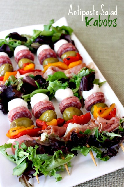 Antipasto Salad Kabobs - by MANtitlement