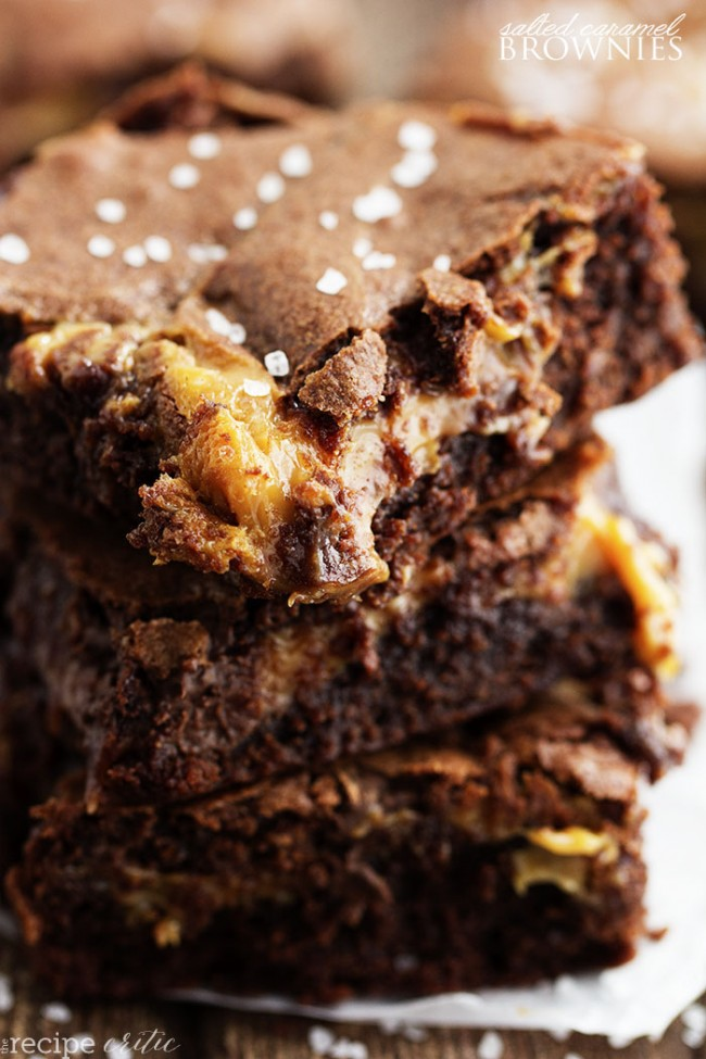 Salted Caramel Brownies - by The Recipe Critic