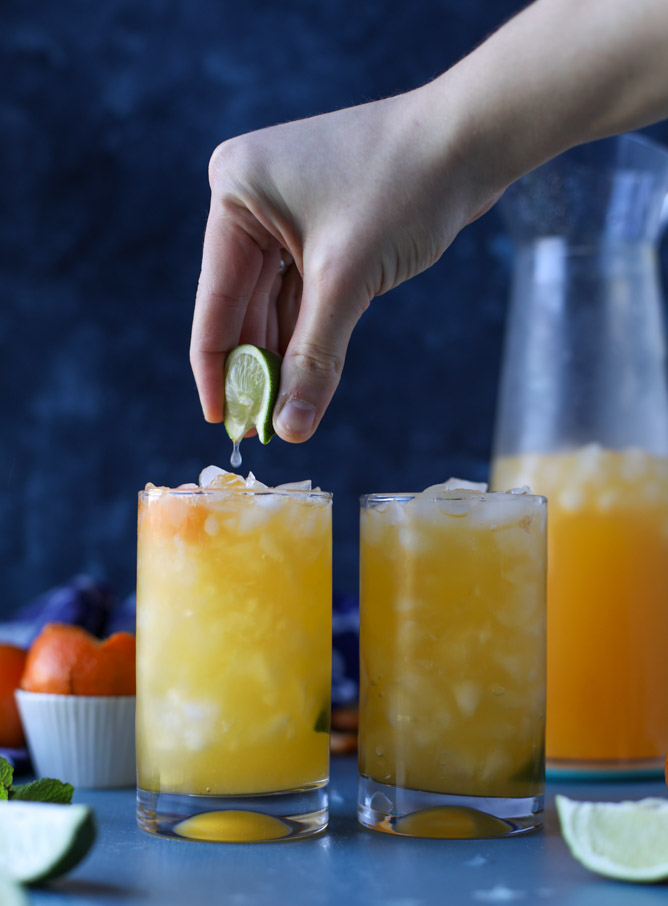Clementine Vodka Sodas - by How Sweet It Is