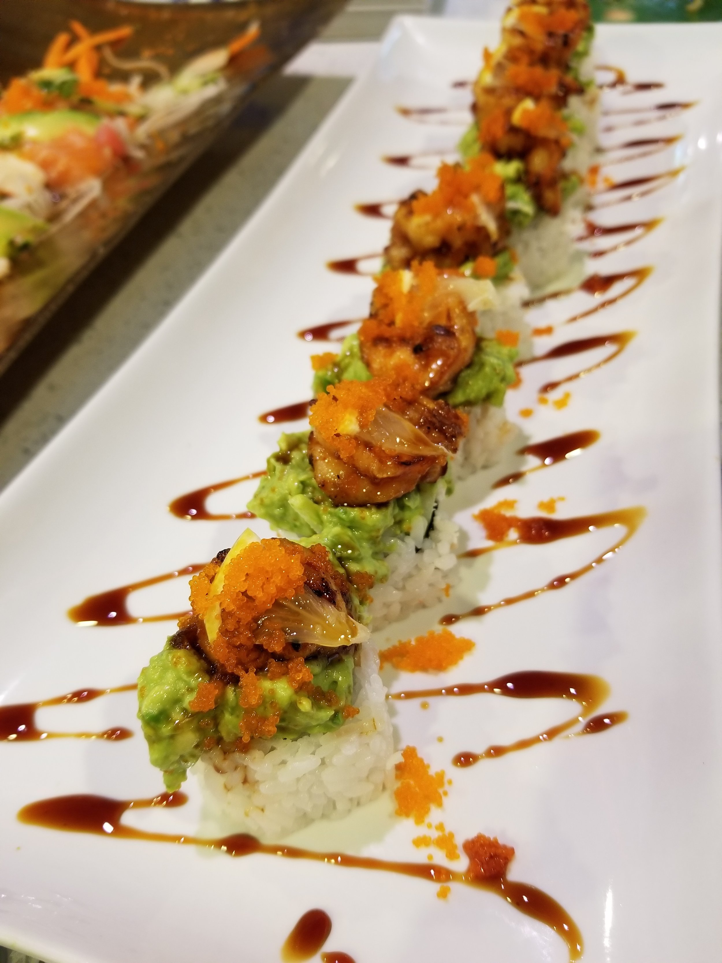 Waka Waka - This is like a FIESTA in your mouth! You've got spicy grilled shrimp on top of a beautiful mound of
