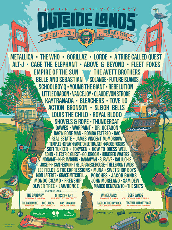 2017 Lineup - Favorite Artists: The Who, Lorde, Empire of the Sun, Future Islands, Young the Giant, Vance Joy, Bleachers, Tove Lo, & The Barbary Tent Comedy Tent!