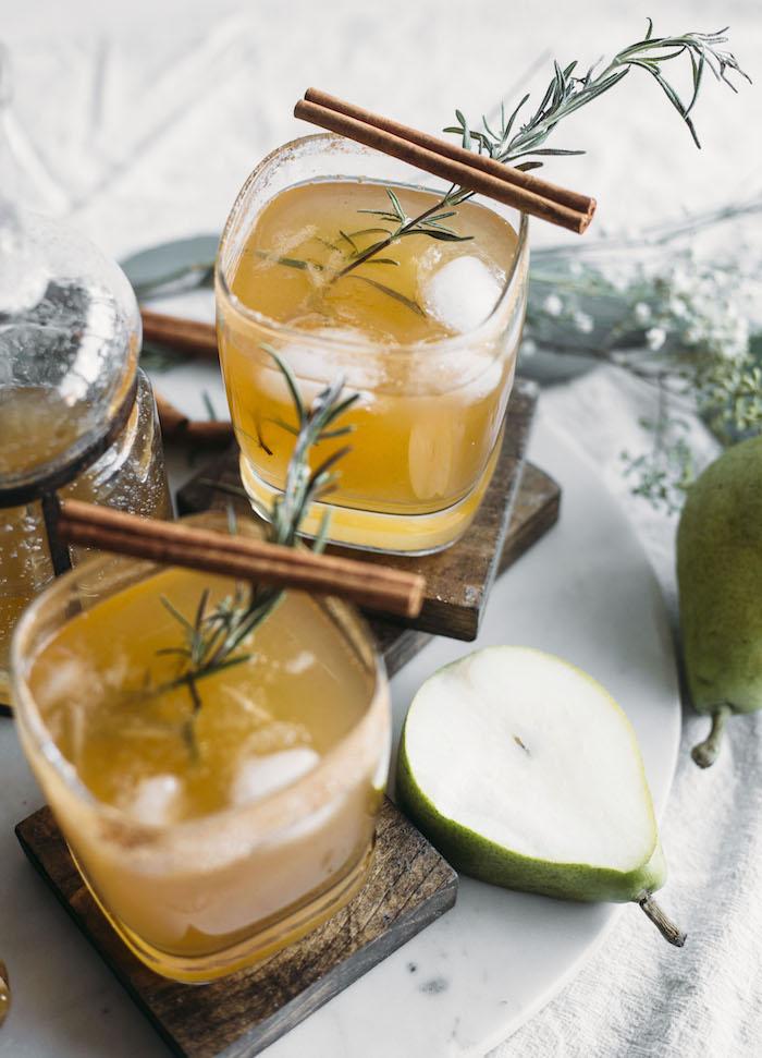 Honey Pear Margarita - by The Almond Eater