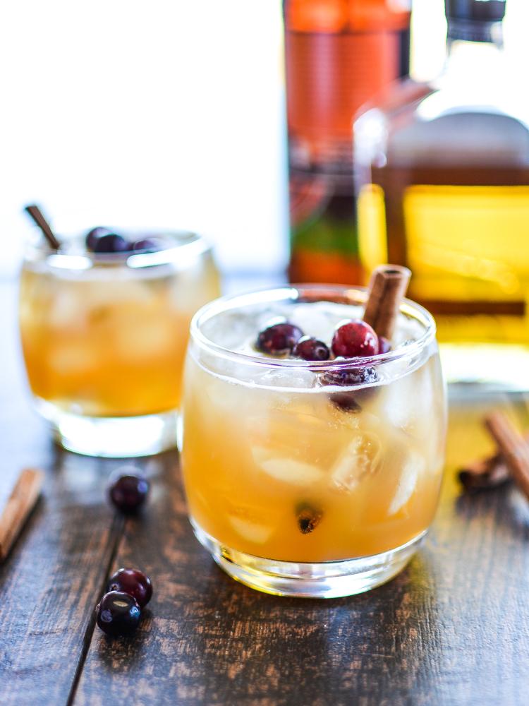 Apple + Pumpkin Beer Cocktail - by Cooking and Beer