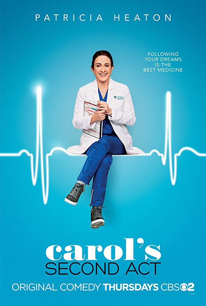 Carol's Second Act     (Season 1) - Thursday Nights on CBS @ 9:30pm, or Catch up on Hulu  I wasn't sure how I was going to feel about this show, so I just gave it a whirl! It is super cute!! Patricia Heaton is a true gem and OBVIOUSLY steals the show! Another surprise that I had no idea who would be on it until I started watching was ASHLEY TISDALE! I love her and this she's super funny and cute! Also, anybody remember the shows Kyle XY or Baby Daddy that used to be on ABC Family? Well, Jean-Luc Bilodeau is also on the show! It's fun to see familiar faces!