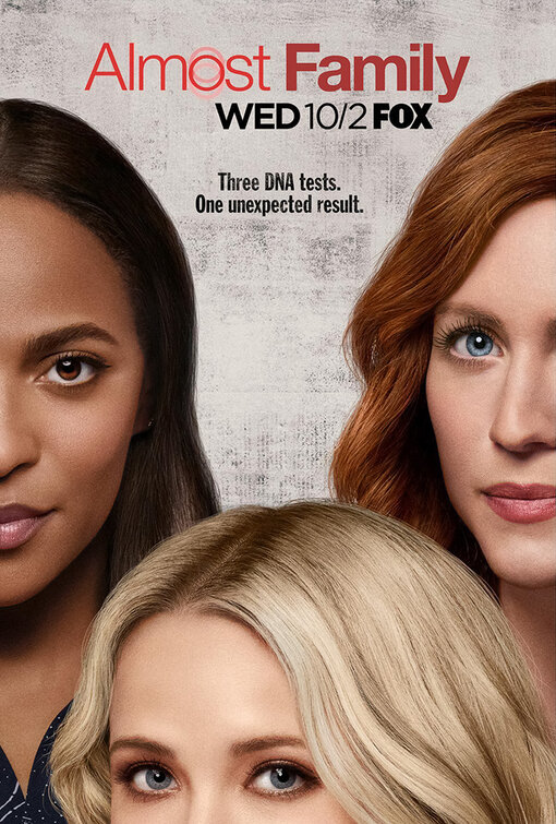 Almost Family     (Season 1) - Wednesday Nights on FOX @ 9pm, or Catch up on Hulu  Talk about a twisted story… but, something I've never seen on television before! I've only seen the pilot, so I'm curious how this show is going to pan out. I really like the cast, especially Emily Osment and of course Brittany Snow. I think it's a show you need to check out on your own and see how you feel about it because it is such a weird concept. We shall see!