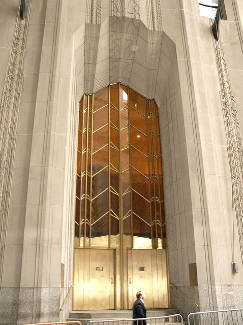 Glam Art Deco Gold Detail - 1 Wall St, NY