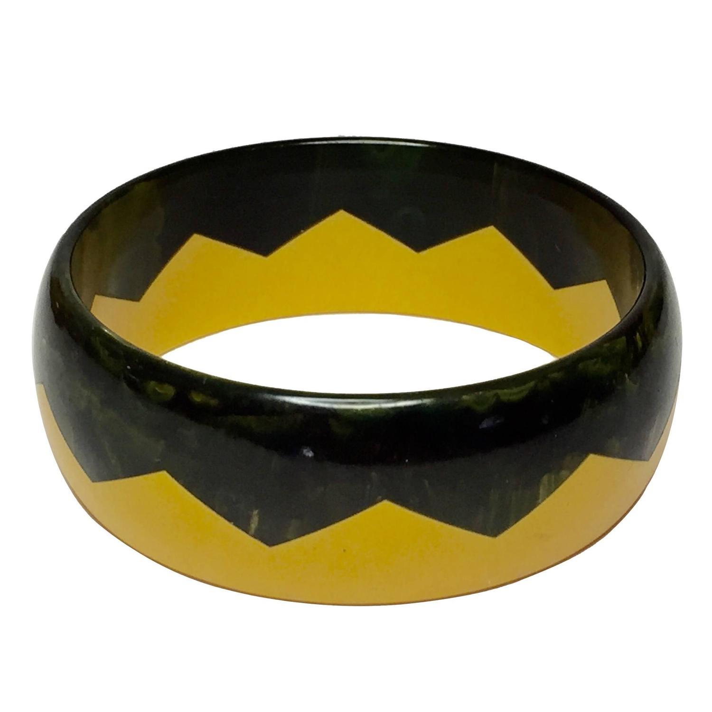 Bakelite Zigzag Bracelet
