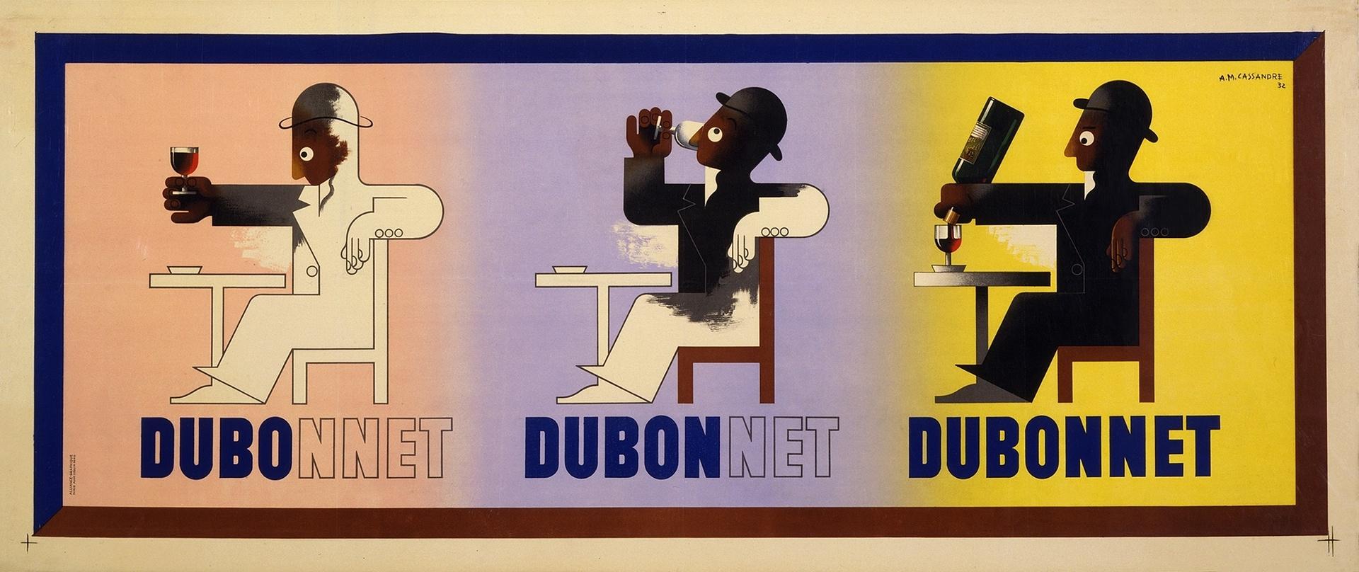 Dubonet Art Deco Ad by  AM Cassandre . Image source:   Flashbak.com