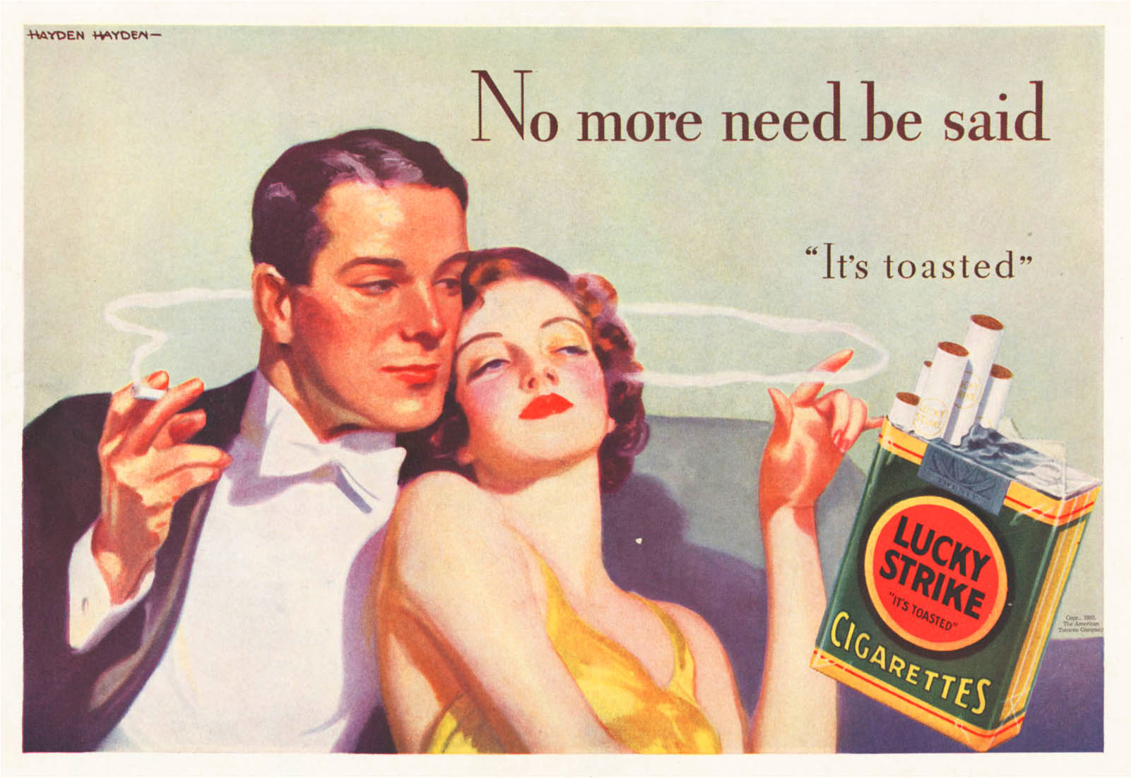 1920s Lucky Strike Cigarettes Ad.  Image source:   Tobacco.stanford.edu