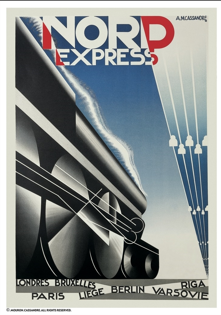 """""""Le Nord Express"""" Poster by AM Cassandre"""