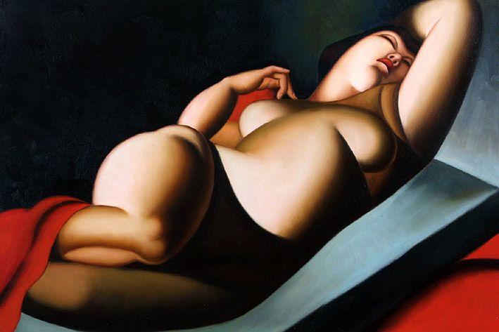""" La Belle Rafaela"" by Tamare de Lempicka, 1927"