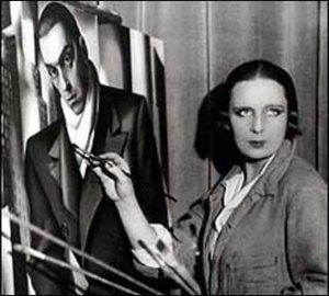 Tamara de Lempicka at her Easel, 1928