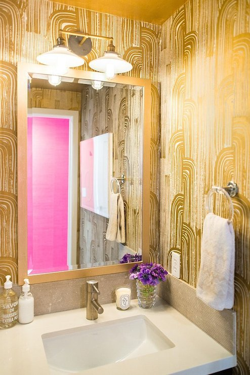 Art Deco Metallic Wallpaper - Design by   Kelly Wearstler