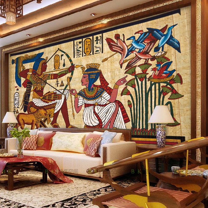 Art Deco Egyptian themed wallpaper - Image source:   Home Caprice