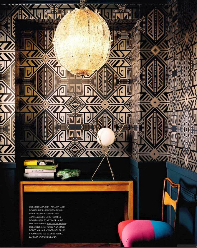 Geometric Art Deco Wallpaper - Image source:    Architectural Digest