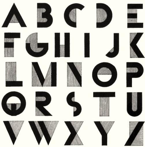 Art Deco Graphic Design Typography
