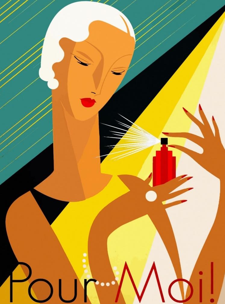 Art Deco Perfume Advertisement