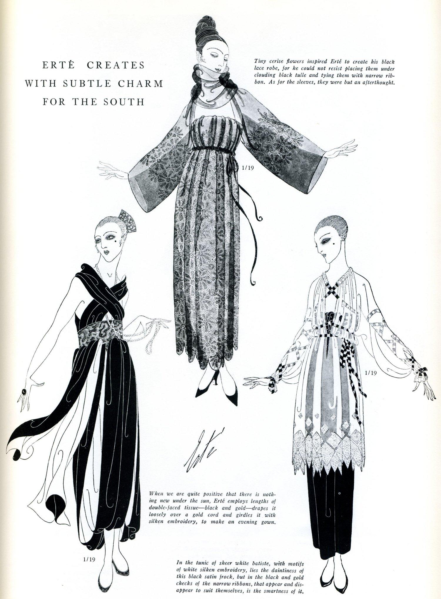 Erte's fashion sketches