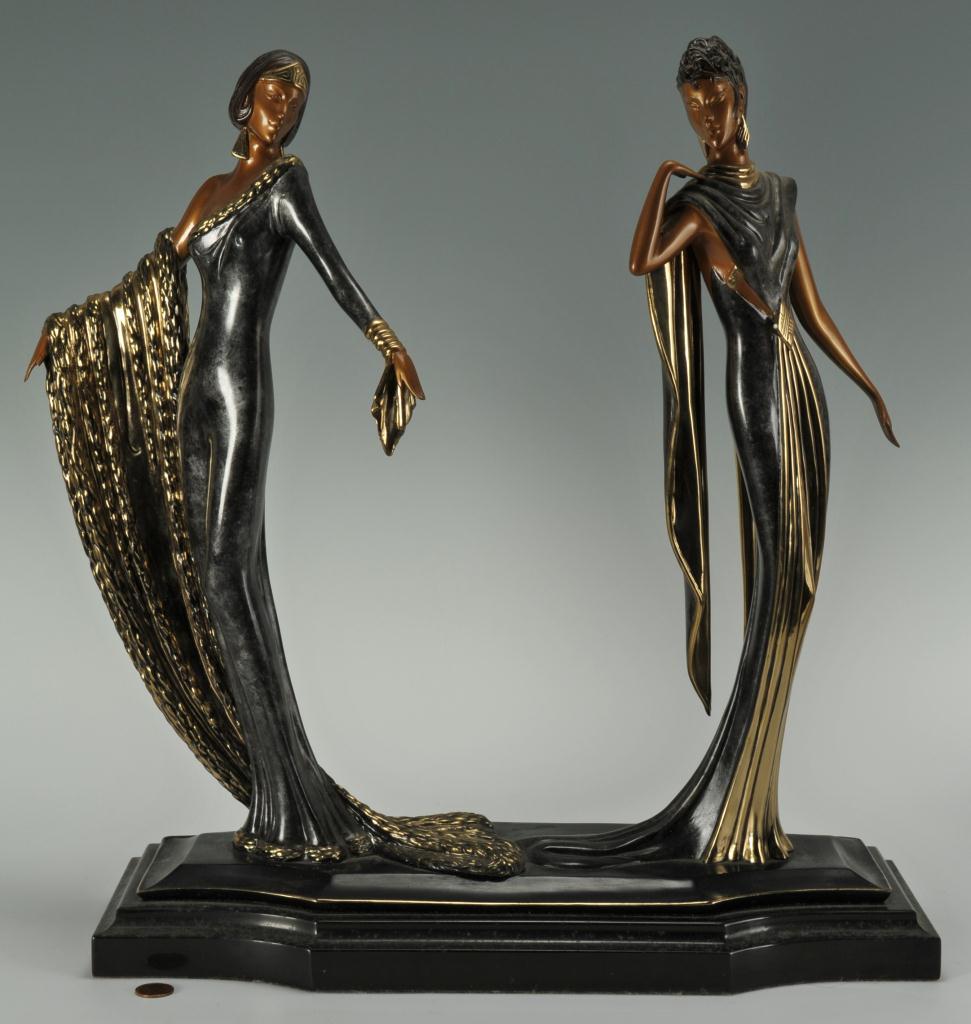 Erte's Bronze Statues, 1989 - Image source:   Caseantiques.com
