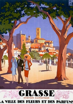 Art Deco Travel Poster - Grasse