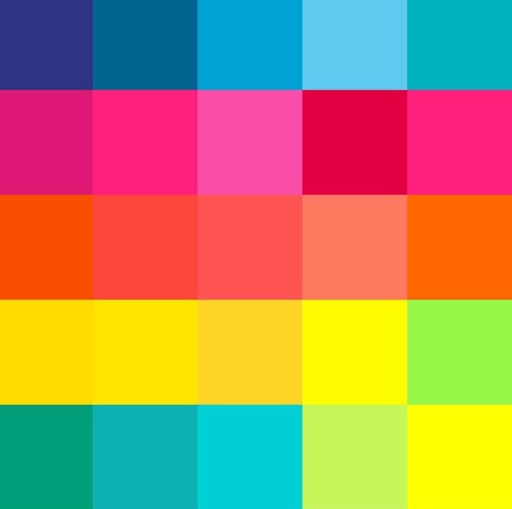 Art Deco Bold & Bright Colour Scheme