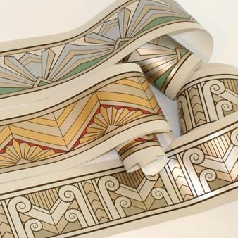 Art Deco Neutral Wallpaper Borders