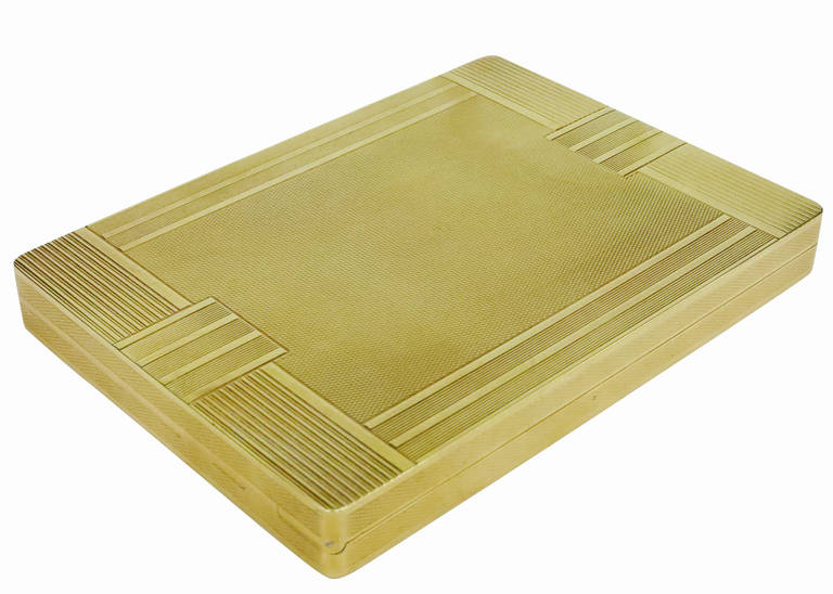 14K Gold Art Deco Cigarette Case - Image courtesy:   1stdibs.com