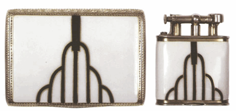 Art Deco Cigarette Case and Lighter
