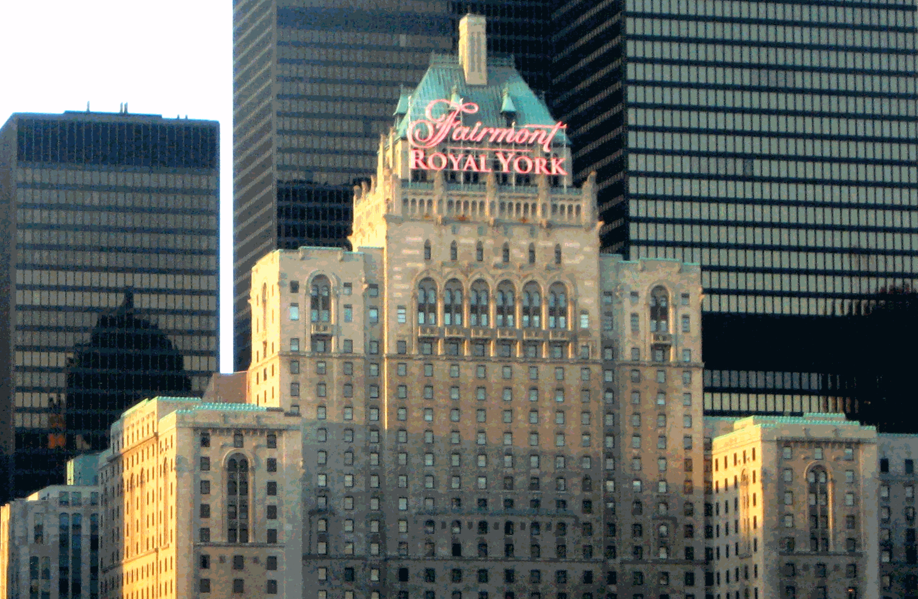 The Fairmont Royal York Hotel, Toronto - View from the Gardiner Expressway
