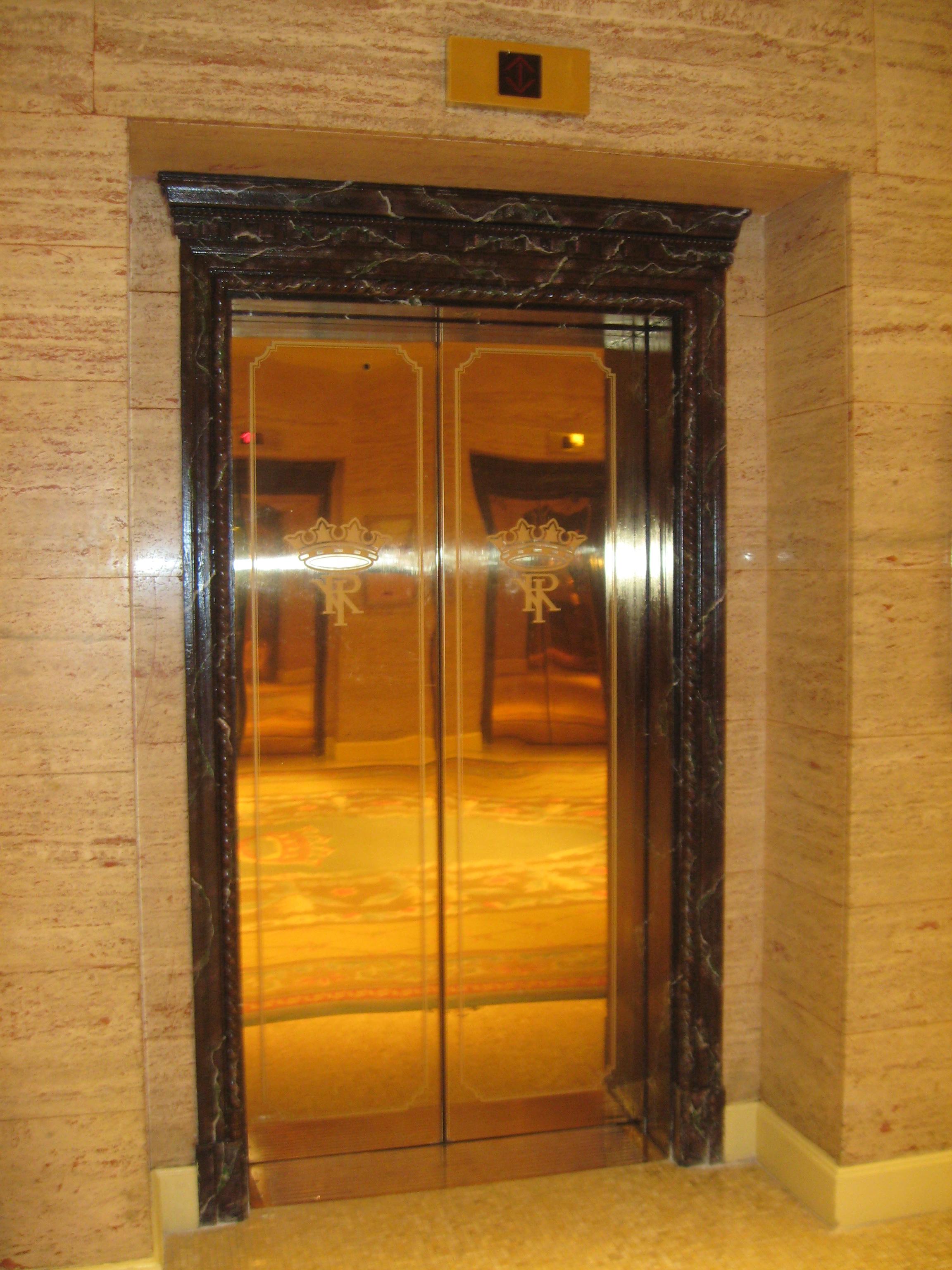Art Deco Mirrored Elevator Doors