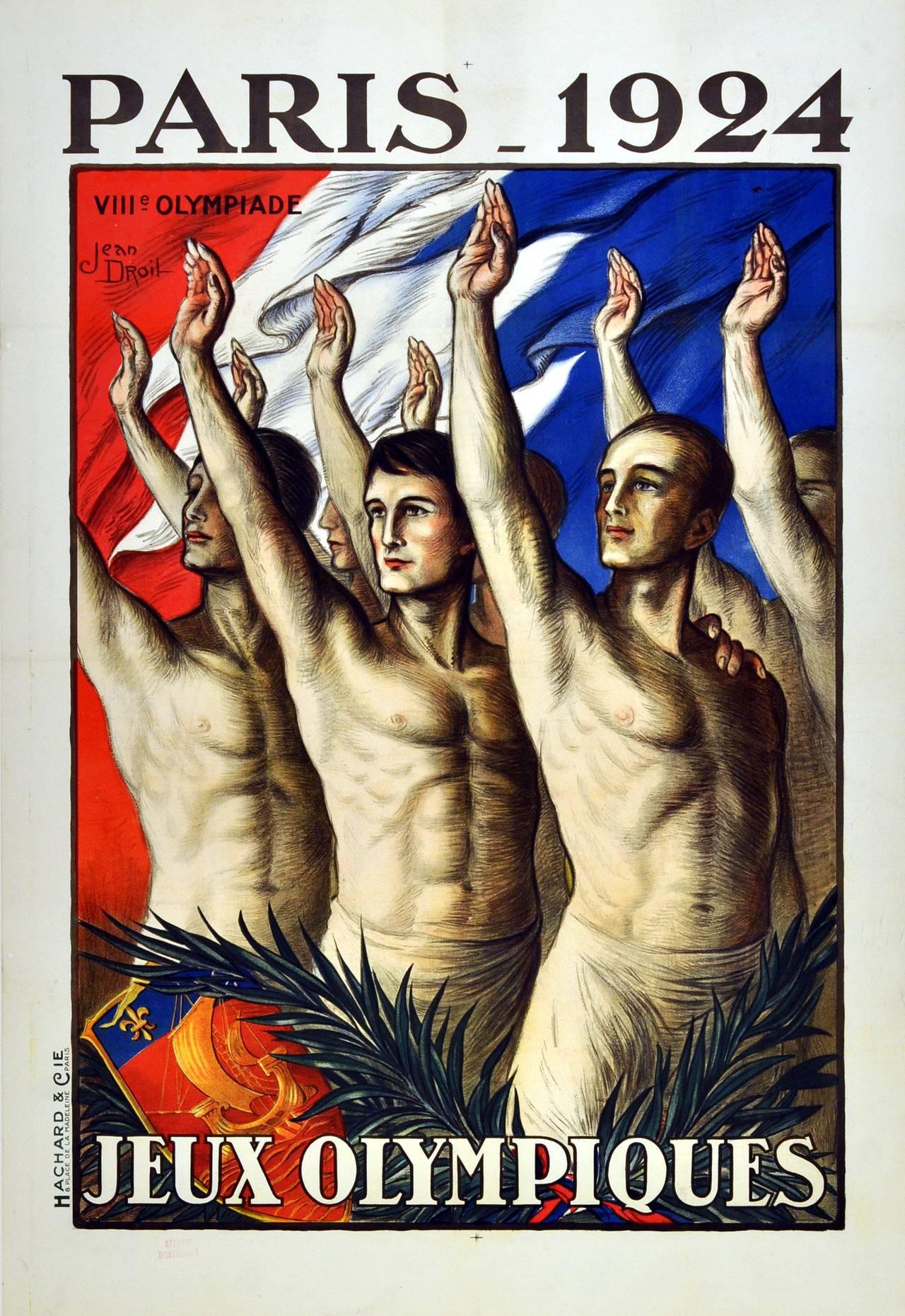 Paris 1924 Art Deco Olympics Poster