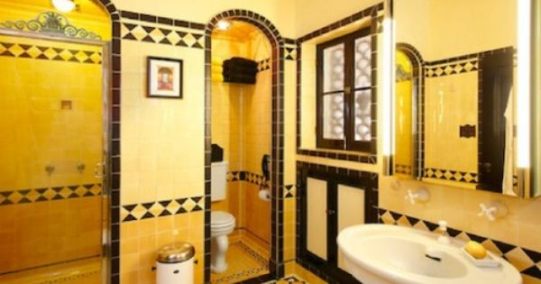 Yellow!! Art Deco Bathroom