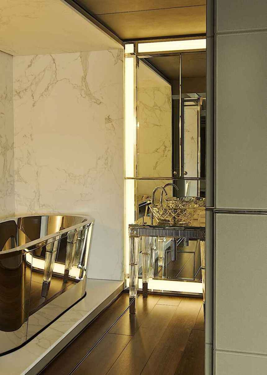 Glamorous Art Deco Inspired Bathroom