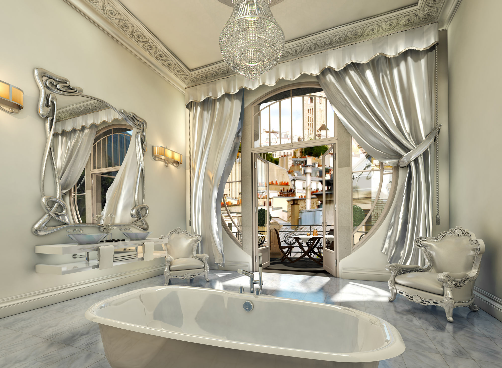 Stunning Art Deco Inspired Bathroom