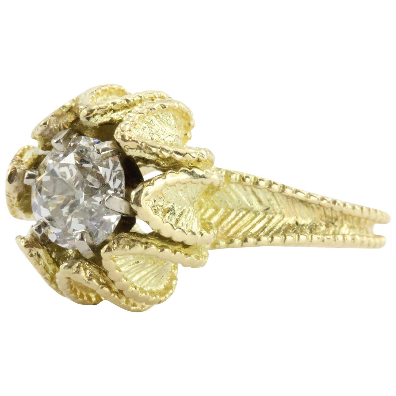 Blooming Flower 1.38 Carat Diamond Engagement Ring