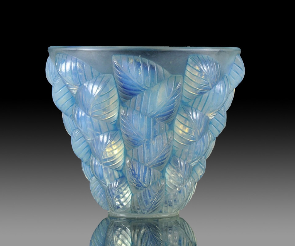 Lalique Opalescent Glass Vase, Circa 1920 - Image courtesy:   Richard Gardner Antiques