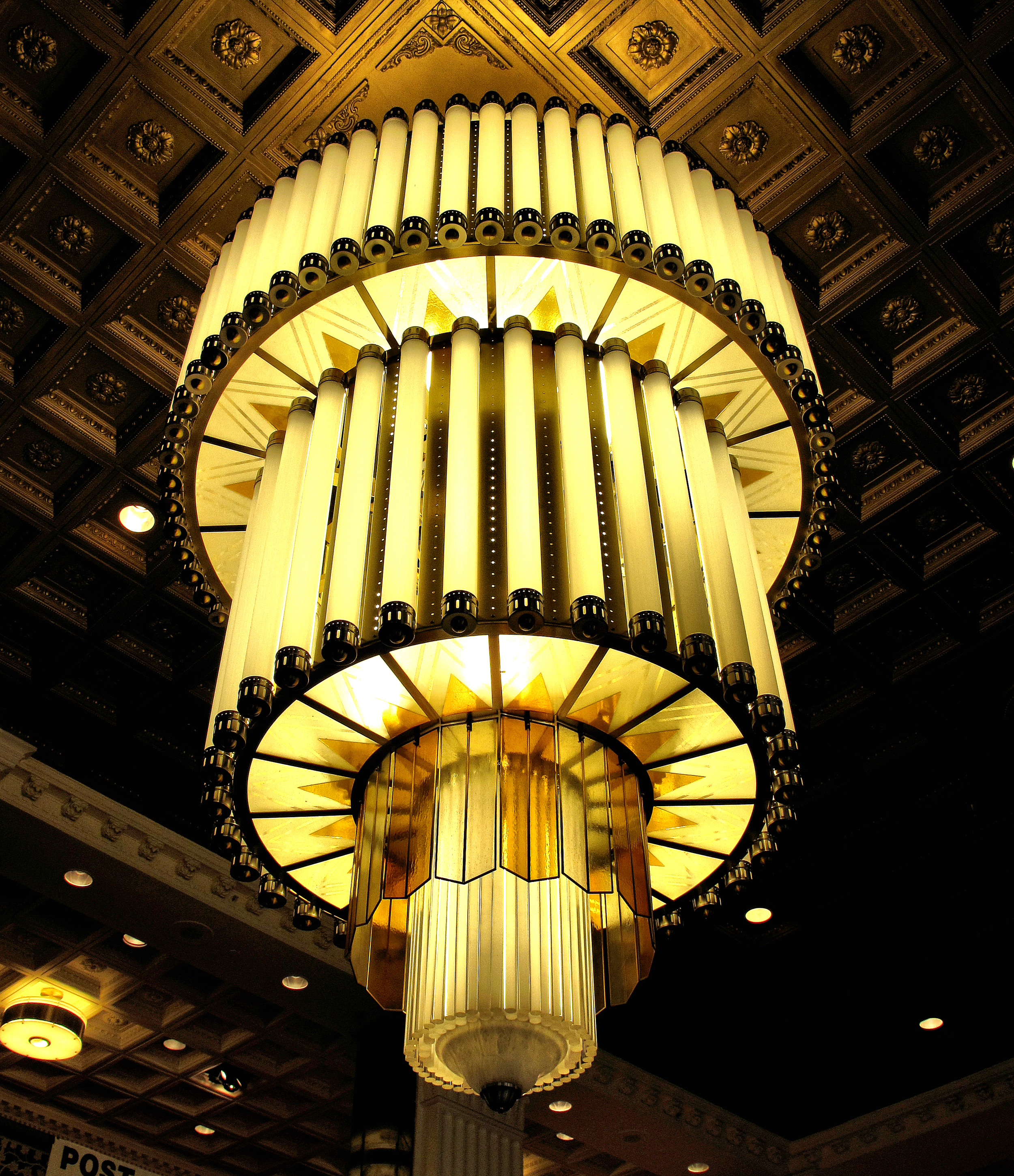 Art Deco Chandelier - New Yorker Hotel, NY