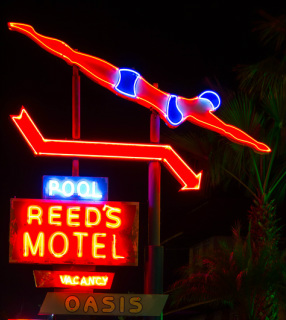 Art Deco Neon Nights - Reed's Motel, Florida, USA