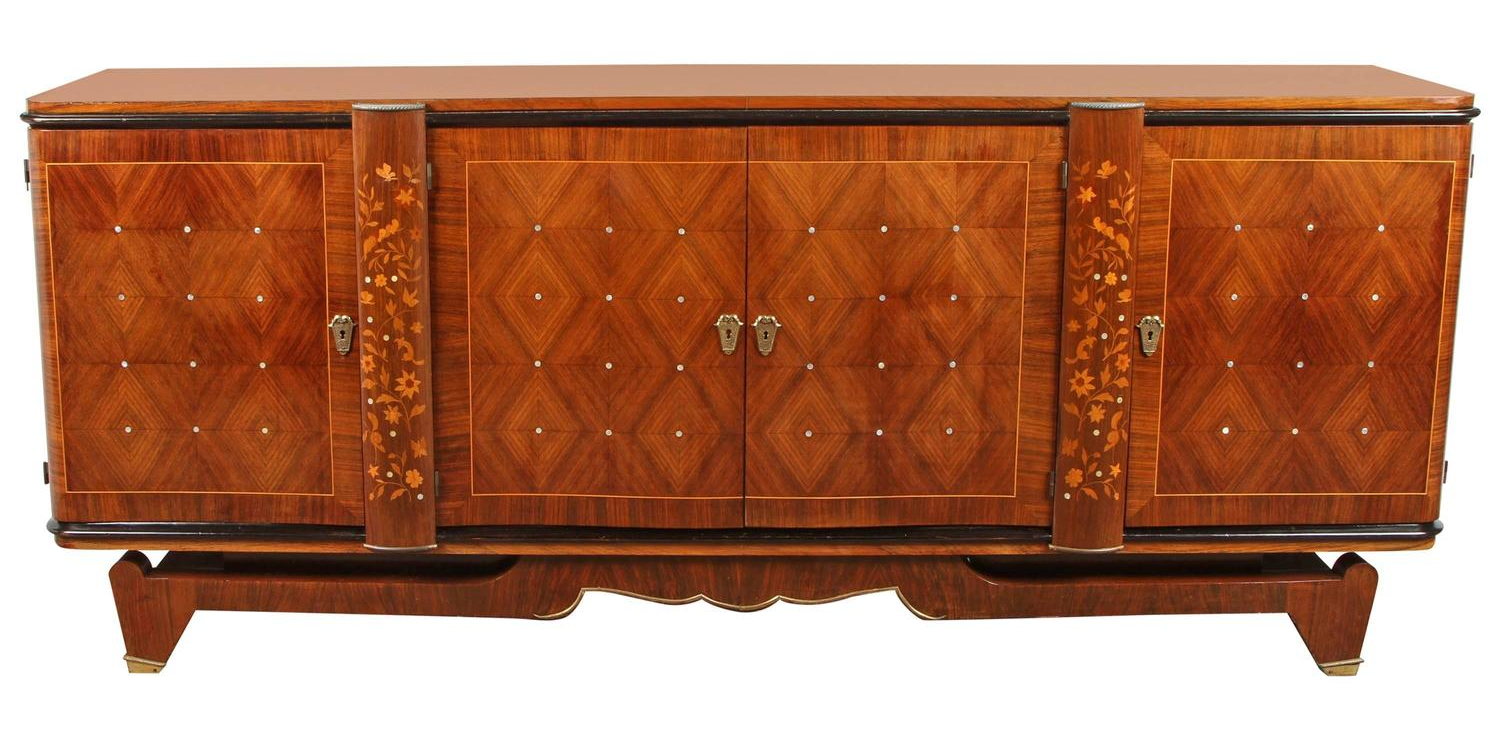 Andre Leleu Art Deco Rosewood Marquetry Sideboard - Image courtesy:   1stdibs.com