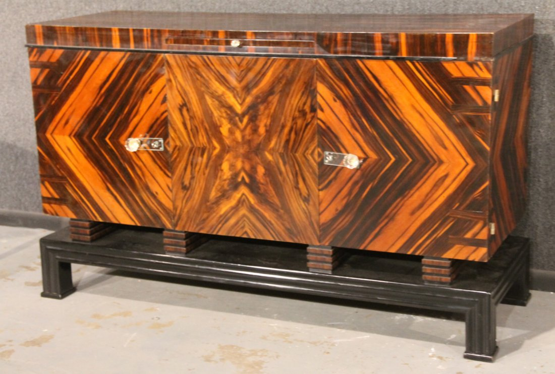 Art Deco Macassar Ebony Sideboard - Image courtesy:   Liveauctioneers.com