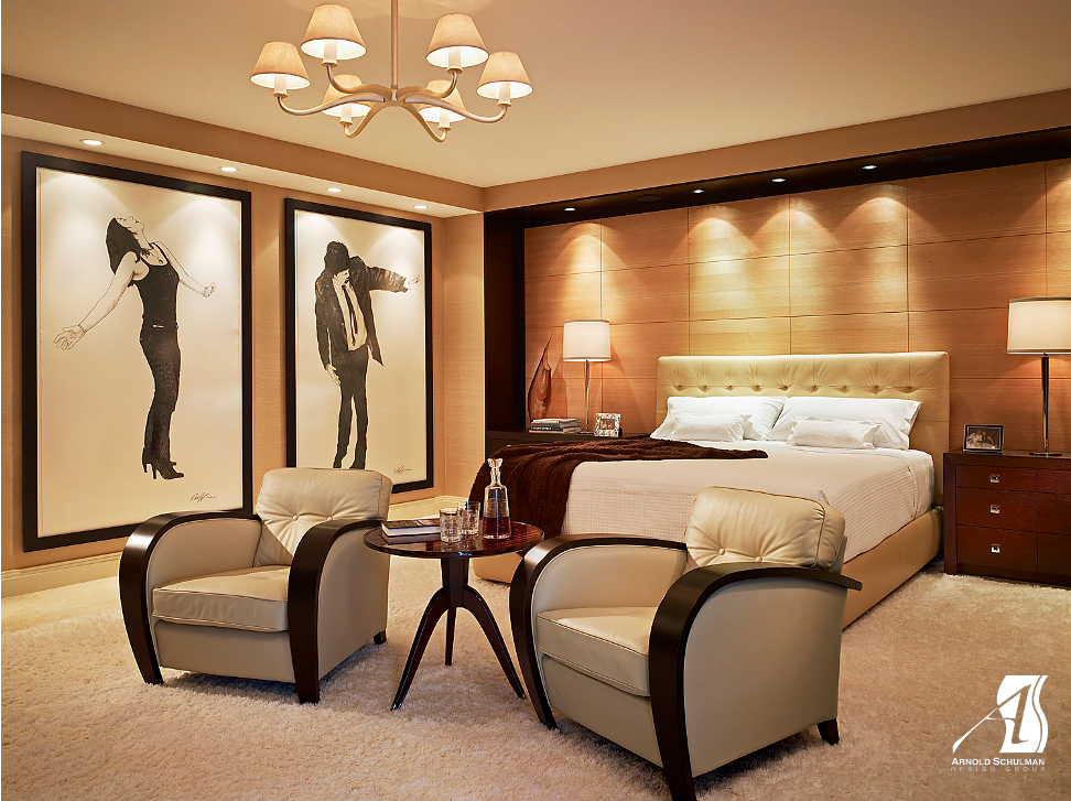 Palm Beach Art Deco Bedroom -  Arnold Schulman Design Group