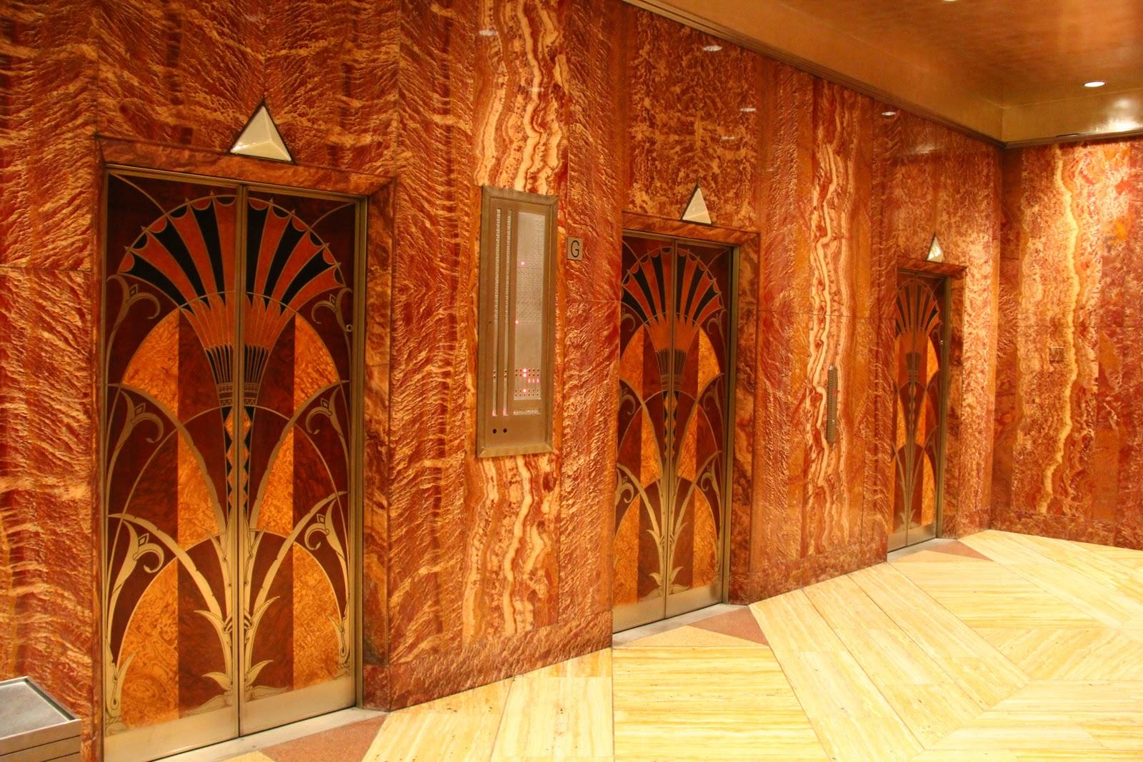 The Chrysler Building - Art Deco Lobby Elevator