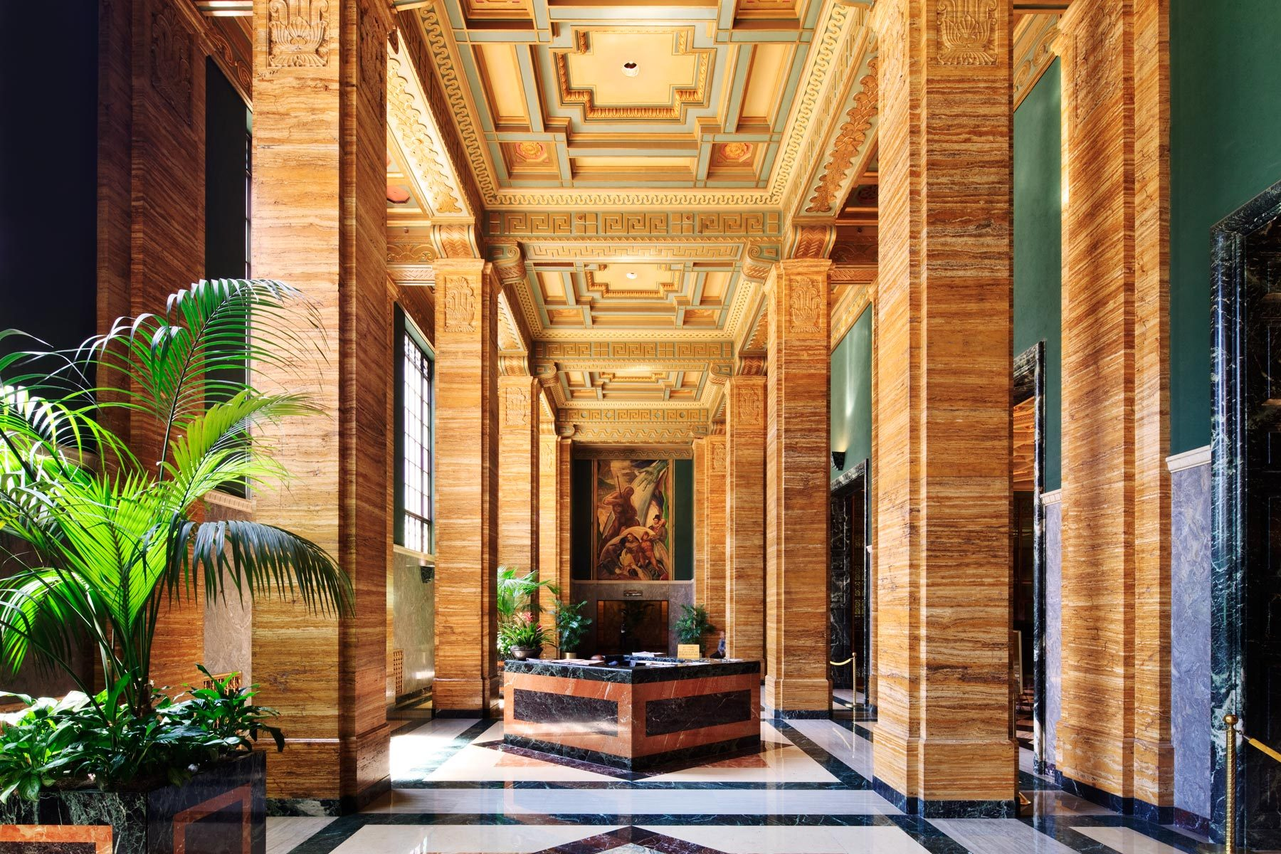 One Bunker Hill Art Deco Lobby -Image courtesy:  dtlaexplorer.wordpress.com
